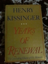 Купить книгу Kissinger Henry - Years of Renewal