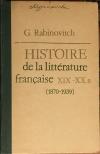 купить книгу Рабинович, Г. Б. - История французской литературы XIX-XX веков